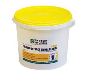 URINAL BLOCKS 3KG TUB 150 BLOCKS AVG YELLOW Deodorant Cubes Bathroom Pub Clean