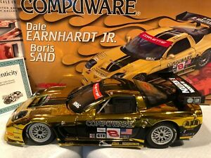 2004 Action Dale Earnhardt Jr Boris Said Compuware 1/18 #8 Corvette Gold Chrome