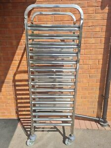 Commercial Catering 15 Tier Gastronorm Racking GN 1/1 Trolley