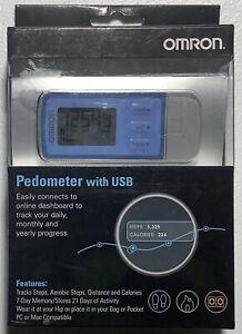 Omron Pedometer with USB, HJ-322U, brand new in box