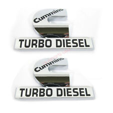 2x OEM Cummins Turbo Diesel HIGH OUTPUT Emblem Decal Dodge Ram 2500 3500 Y