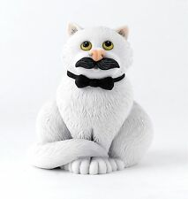 Comic & Curious Cats - Movember Cat Figurine in Gift Box