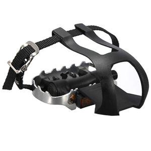 2 x Alu bicycle mountain bike loop pedal pedal hook with basket strap + ped K3T7