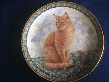 """Danbury Mint Cats Around The World """"Spiro In Egypt"""" plate"""