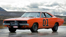"""1969 Dodge Charger General Lee Car Auto Art Silk Wall Poster 24x36"""""""