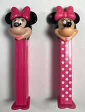 Pez Dispenser Minnie Mouse Disney Lot/2 Pink/ Polka Dot 1990's -Now