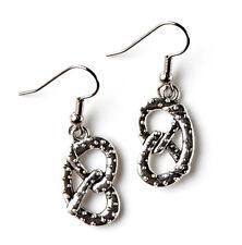 Pretzel Earrings - Food Accessories - Women's Jewelry - Handmade - Gift Box