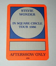 Stevie Wonder In Square Circle Tour 1986 Concert Aftershow Only Pass Otto Mt