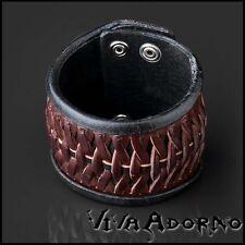 Leder Armband geflochten braun Biker Armband Flechtarmband Rocker Herren LB38