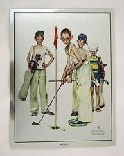 Vintage Norman Rockwell Missed! Sporting Boys Golf Foil Etch Print