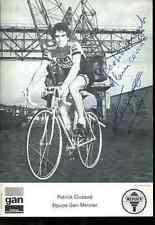 PATRICK CLUZAUD GAN MERCIER Autographe cycling Signé Signature cyclisme ciclismo