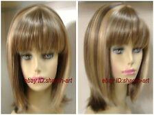 Wigs,brun mixte raide Moyen santé cosplay Costume cheveux perruques