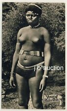 S Africa YOUNG ZULU GIRL / Loincloth Scar Tattoo * Vintage 30s Ethnic Nude RPPC