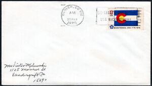US FDC, SC#1670, State Flag Colorado, state cancel, No Cachet, 1976