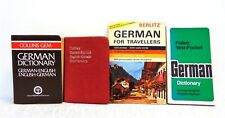 Lot of 4 Learn German Language Books German-English Dictionary