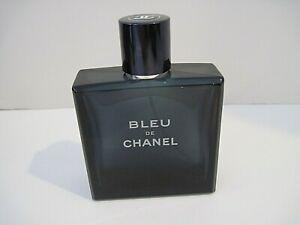 """Bleu de Chanel EDT 3.4 100ML EMPTY BOTTLE """"6103"""" Authentic Men's Fragrance"""