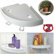 Bathroom Triangular Shower Shelf Corner Bath Storage Holder Organizer Rack US
