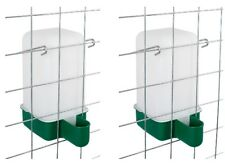 2 x 1 Lt  Cage Drinker - Chicken/Quail/Pigeon/Chick Drinker with brackets