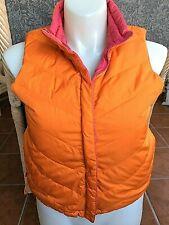 Women's Coldwater Creek Reversible Puffer Vest, Orange/Pink w/Goose Down, Sz.M