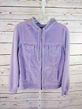 Gap Maternity womens lavender corduroy zip front hooded jacket size XS