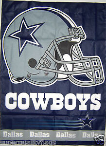 27X37 NEW DALLAS COWBOYS BANNER WITH FLAG POLE SLEEVE MADE USA