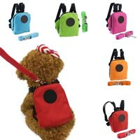 Dog Backpack Harness Leash Mini Bag Dog Harness Puppy Collar Chest Strap Pet.