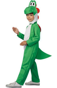 Kids Super Mario Yoshi Fancy Dress Costume Child Yoshi Costume Dinosaur Costume