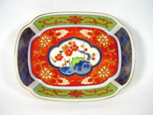 Takahashi Soap Dish Porcelain 1981 Hand Decorated Takahashi Shoten