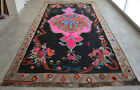 "77″ x 154″ Karabakh Rug Hand Woven Kilim Large Area rug 6'5"" x 12'10"" HOT PINK"