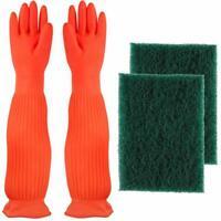 Aquarium Cleaning Tools Set Latex Gloves Algae Scraper Sponge Fish tank Cleaner