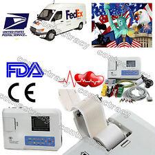 US Seller!Portable Digital single Channel ECG EKG Machine Electrocardiograph,FDA