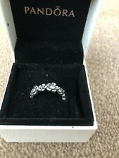 Genuine Silver Pandora Dazzling Daisy Band Ring Size 56