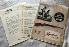 Vtg 1957 Mossberg Gun Catalog Retail Price List Letter With Mossberg Letterhead
