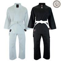Malino Student Karate Gi Kids Men Suit Uniform Free Belt Cotton 8oz White/Black