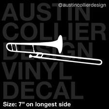 "7"" TROMBONE vinyl decal car window laptop sticker - marching band"