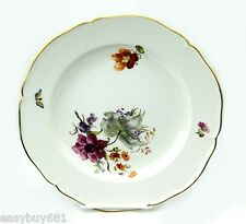 KPM GERMANY 19TH CENTURY CABINET FLOWER PLATE MUSEUM QUALITY NO CHIPS # 5
