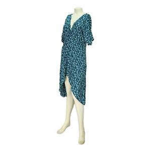 O'Neill Womens Saltwater Floral Twist Cover Up Dress Teal S New