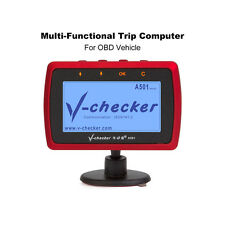 V-checker A501 Trip Computer OBD II Scanner Car Engine Fault Code Reader CAN Dia