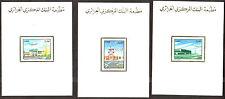 Algeria  1989 - Airports  - 3v , Scott# 890/92 - 03 Deluxe Sheets - Superb !