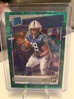 Optic Johnathan Taylor SSP Exclusive Green Velocity Refractor Prizm Rated Rookie