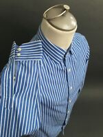 BANANA REPUBLIC Non -iron SLIM FIT Size Small Blue Brown Front Button Shirt