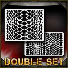 Snakeskin Texture Pattern Airbrush Stencil Template Airsick
