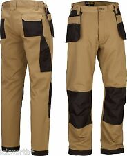 Heavy Duty Pro Work Trousers With Kneepad & Holster Multi Pockets Cargo Style