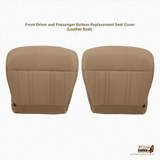 1997 FORD F-150 DRIVER & PASSENGER BOTTOM LEATHER SEAT COVER PRAIRIE TAN