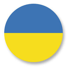 Magnet Aimant Frigo Ø38mm Drapeau Flag Echarpe Maillot Europe Ukraine UA Kiev