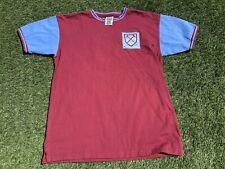 WEST HAM UNITED 1960'S FOOTBALL SHIRT SCORE DRAW SIZE XL #6 MOORE RETRO