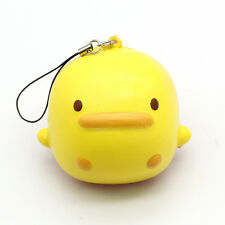 Cute Yellow Duck Squishy Bread Cell Phone Charms Straps Scent Key Chain yj