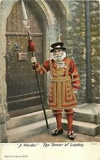 A Warder the Tower of London uniform vintage postcard