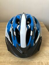 Summit Pursuit Cycle Safety Helmet with Visor, Blue - Adult Large