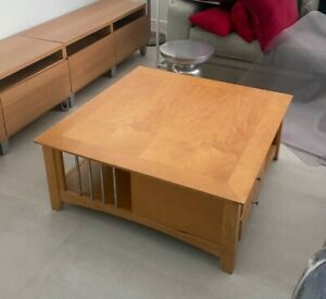 Used Wooden Coffee Table Camel Colored in Great Condition